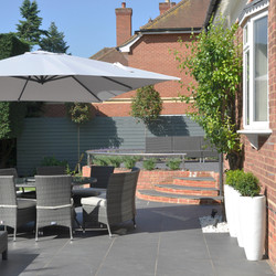 family garden with pool, Marlow