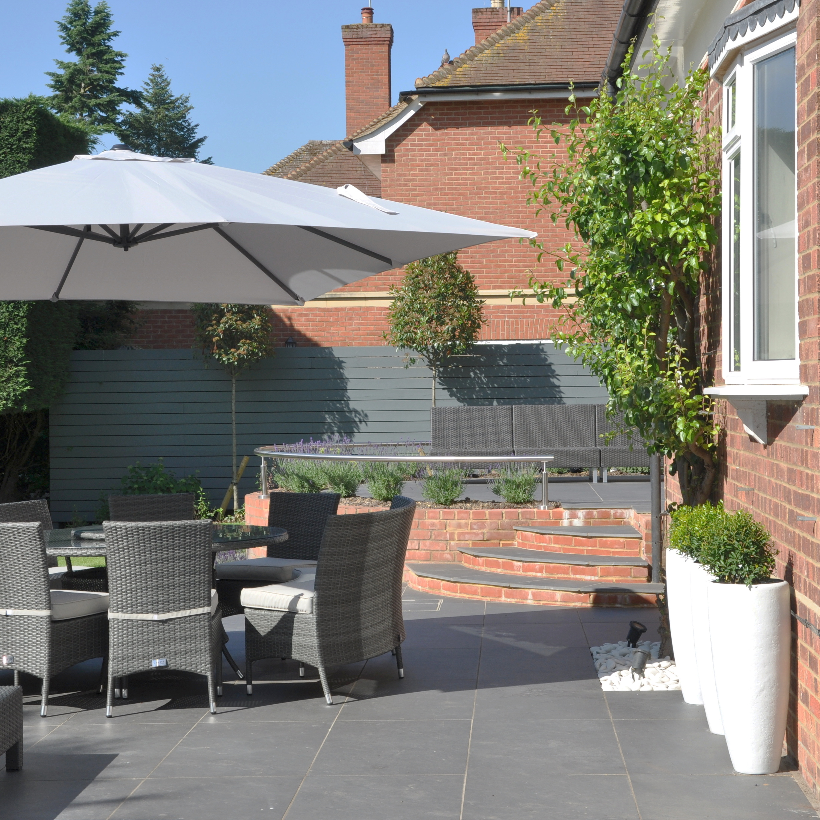 garden with pool marlow