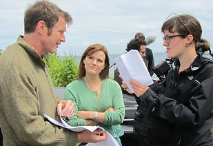 Miranda working with Jason Flemyng and Jo Joyner