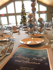 Tables are set for the 2016 Holiday Dinner and Auction!