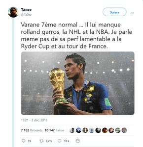 Varane world cup coupe du monde 2018 ballon d'or 7ème