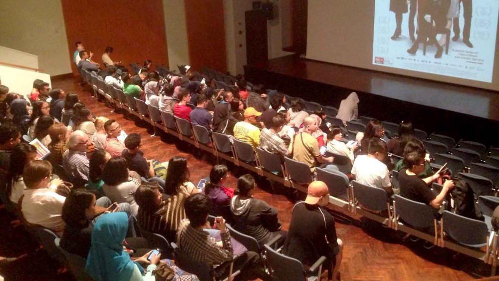 Suasana pemutaran di Goethe-Institut Jakarta (foto: dokumentasi Europe on Screen 2016)