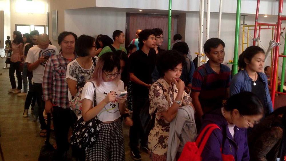 Antrian penonton di Goethe-Institut Jakarta (foto: dokumentasi Europe on Screen 2016)