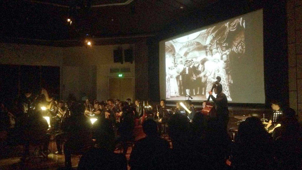 Pemutaran film-film Georges Méliès dengan iringan orkestra (foto: dokumentasi Europe on Screen 2016)