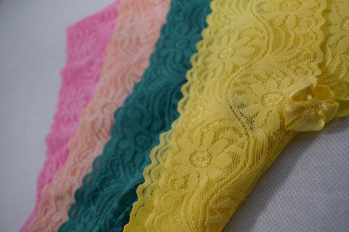 Kit Color | com 4 Calcinhas Renda