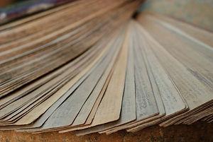 ayurveda textes sur feuilles de palme
