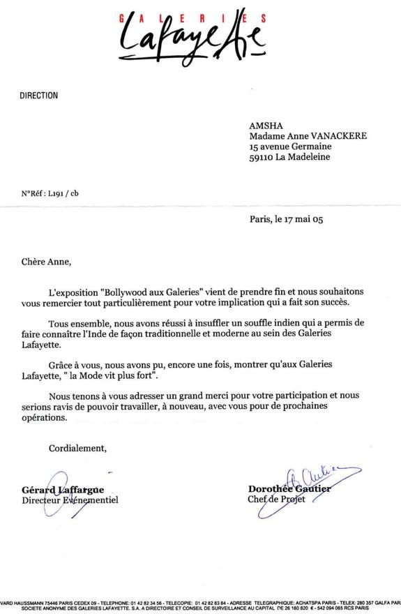 GALERIES LAFAYETTE 2005