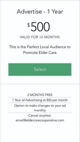 Advertise - 1 Year