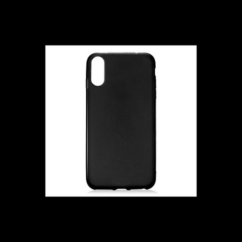 iPhone X/XS Siliconen TPU case zwart