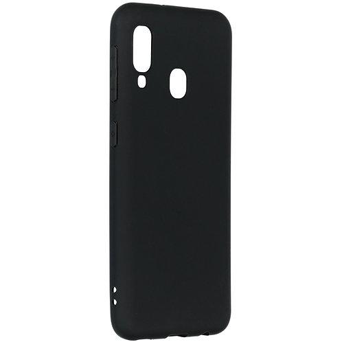 Galaxy A20e siliconen TPU case zwart