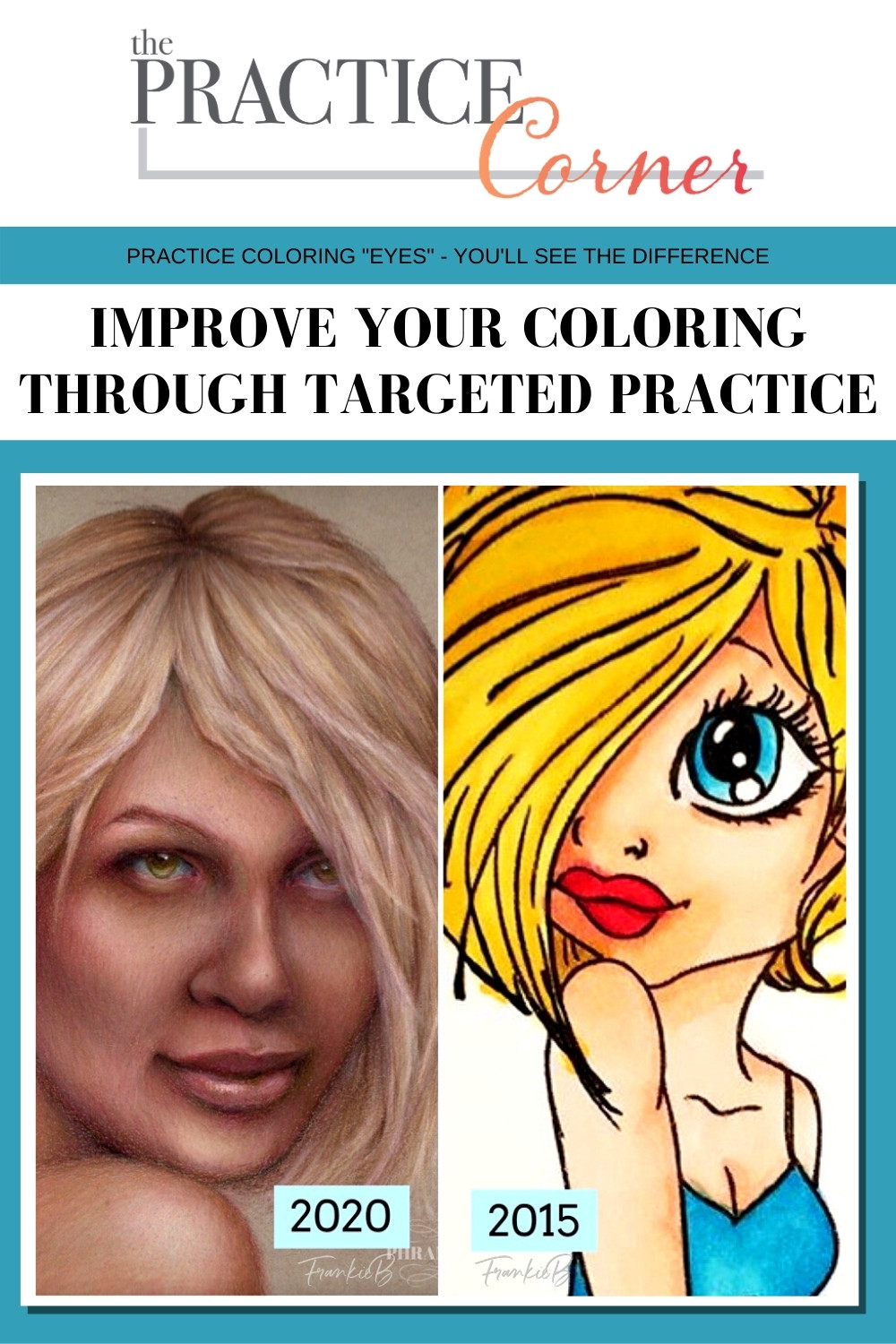 Measure your coloring progress | Practice makes progress | How to improve your coloring | #coloredpencil #coloredpencilpractice #copicmarker #copicmarkerpractice  #thepracticecorner #realisticcoloring