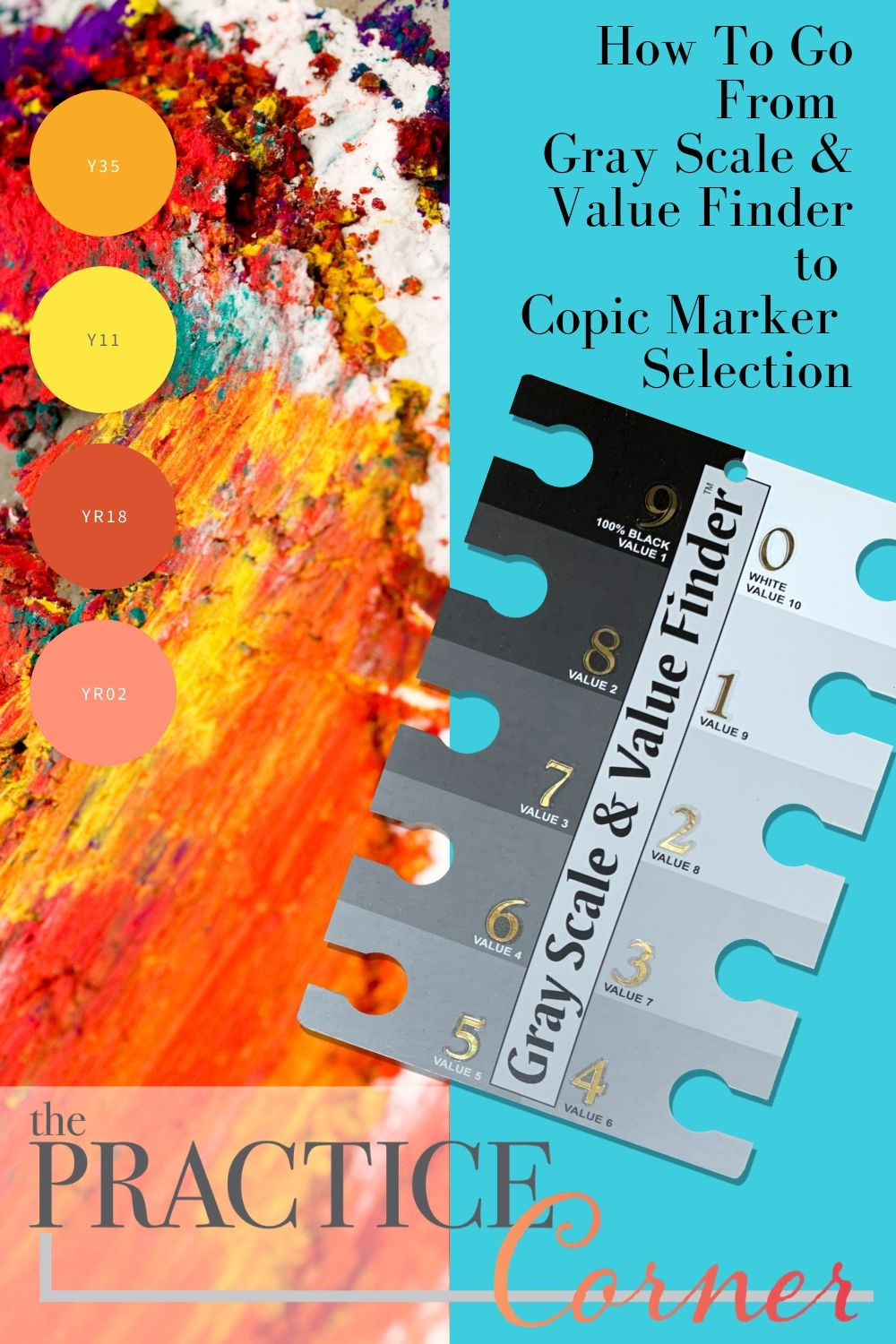 Quick Coloring Tip: How to use the Gray Scale & Value Finder to select Copic markers, colored pencils or watercolors for more realistic in your project.  #coloredpencil #coloredpencilpractice #copicmarker #copicmarkerpractice  #copiccoloring #coloredpencilcoloring