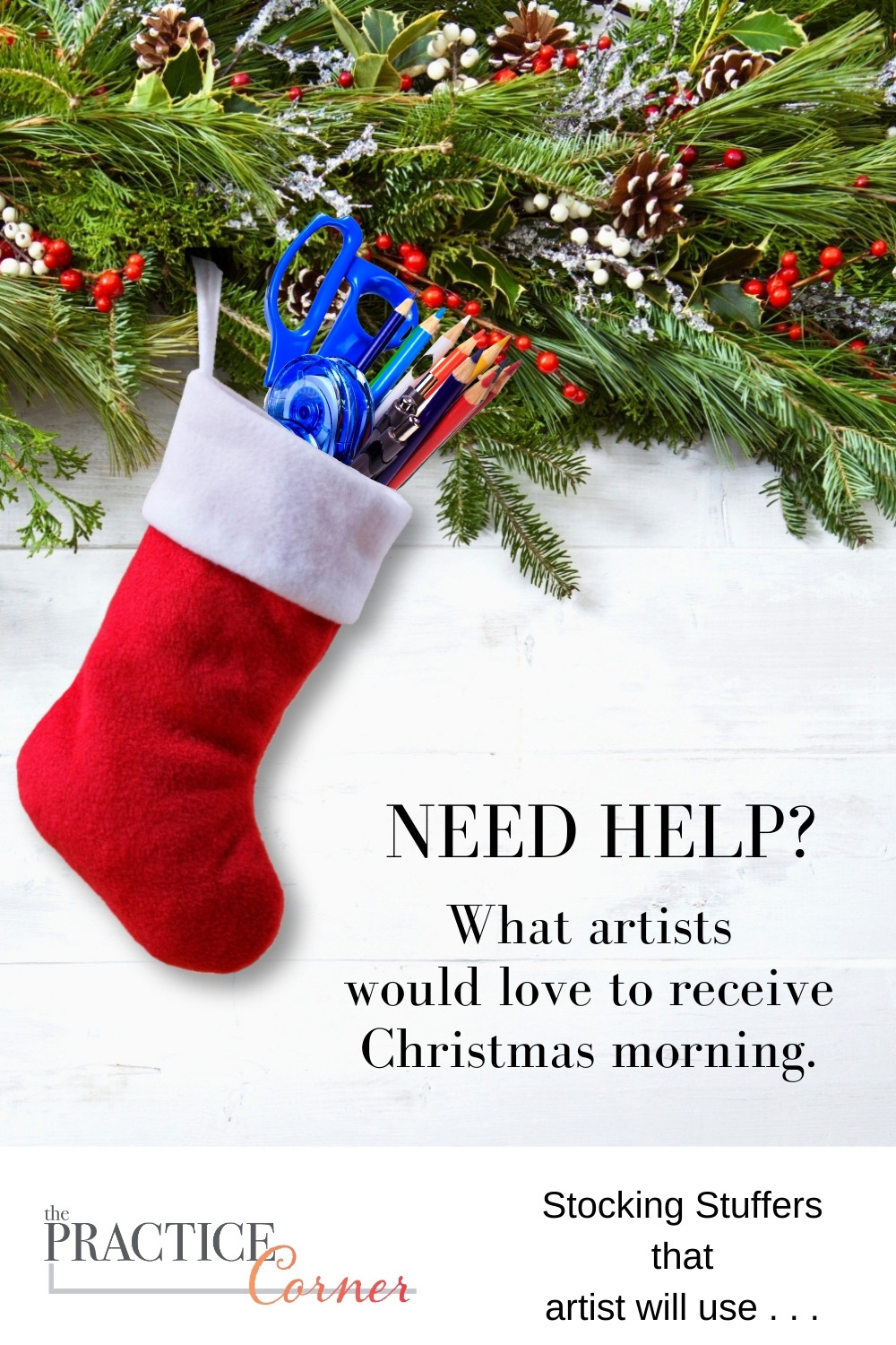 Stocking stuffer that artists would love to find in their stocking. | The Practice Corner | #artgifts
