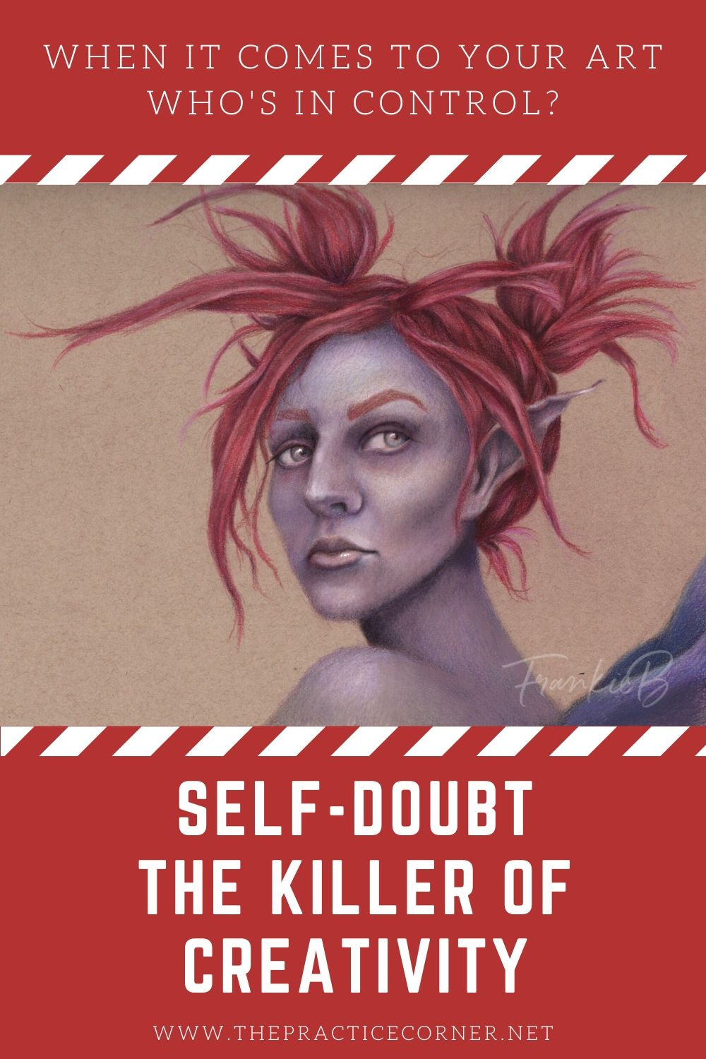 Ignore your inner voice when it's full of self doubt.  Self doubt is the killer of creativity.  How to improve your coloring | What to practice to improve my coloring #coloredpencil #coloredpencilpractice #copicmarker #copicmarkerpractice