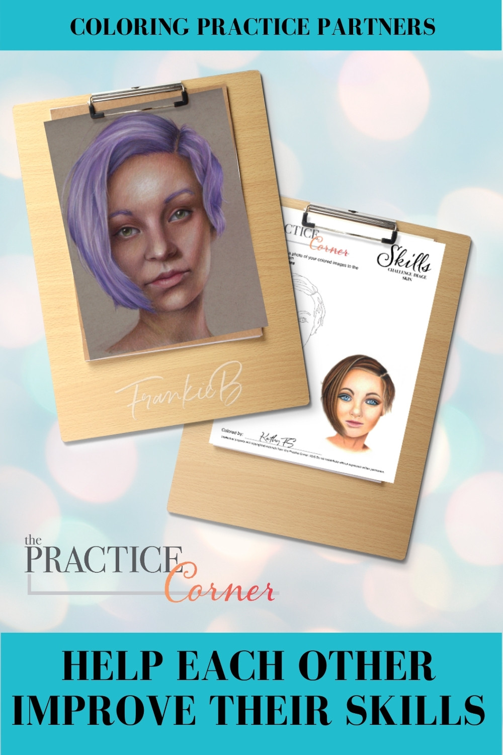 Coloring practice partner doubles the learning and makes practice more fun. | The Practice Corner | #practicepartners | #howtopractice