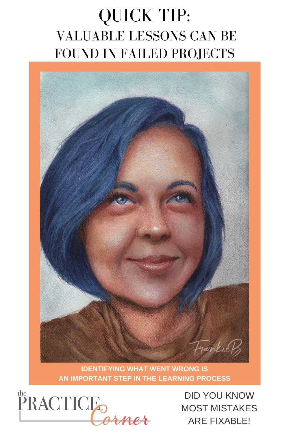 Failed art project, don't toss it, determine where it went wrong. | The Practice Corner | How to improve your coloring | #coloredpencilpractice #copicmarkerpractice