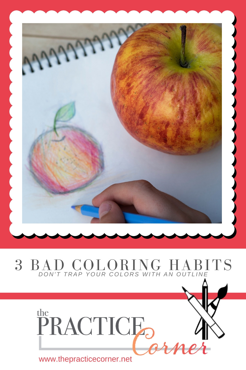 3 Bad Coloring Habits and How You Can Correct Them  | How to improve your coloring | What to practice with Copic Markers | What to practice with colored pencils | #coloredpencil #coloredpencilpractice #copicmarker #copicmarkerpractice  #thepracticecorner #realisticcoloring #coloringtechniques