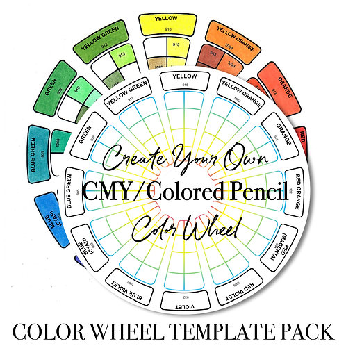 CMY/Colored Pencil Color Wheel Template Pack