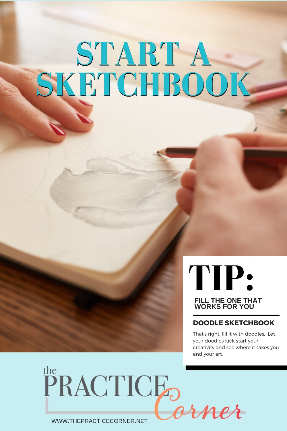 3 Ways to Fill A Sketchbook #coloredpencilpractice #copicmarkerpractice  #thepracticecorner #coloringtechniques