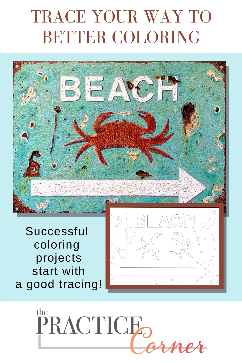 Tracing is a key coloring skill | #thepracticecorner #coloringtips