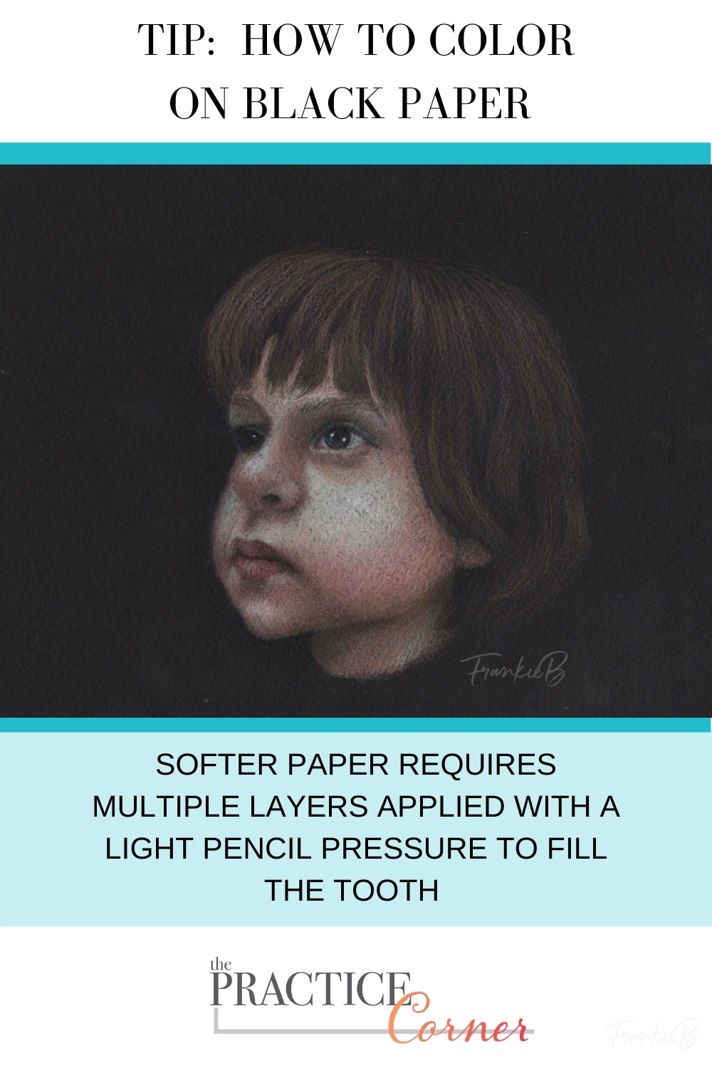 Coloring on black paper starts with establishing the highlights. | The Practice Corner | #realisticcoloring #coloringtechniques #coloredpencilpractice
