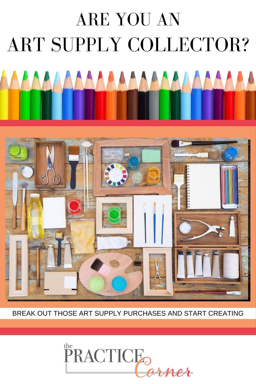 Don't just collect art supplies, use them! | The Practice Corner | #copicmarkerpractice #coloredpencilpractice