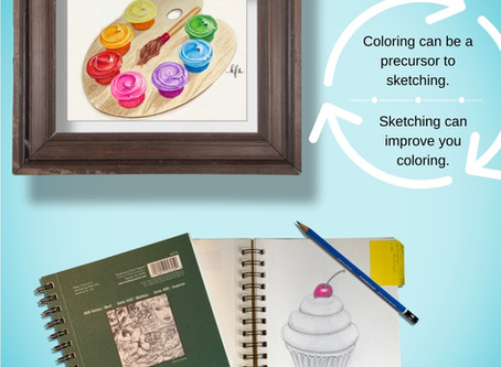 In Art, What Comes First Coloring or Sketching?