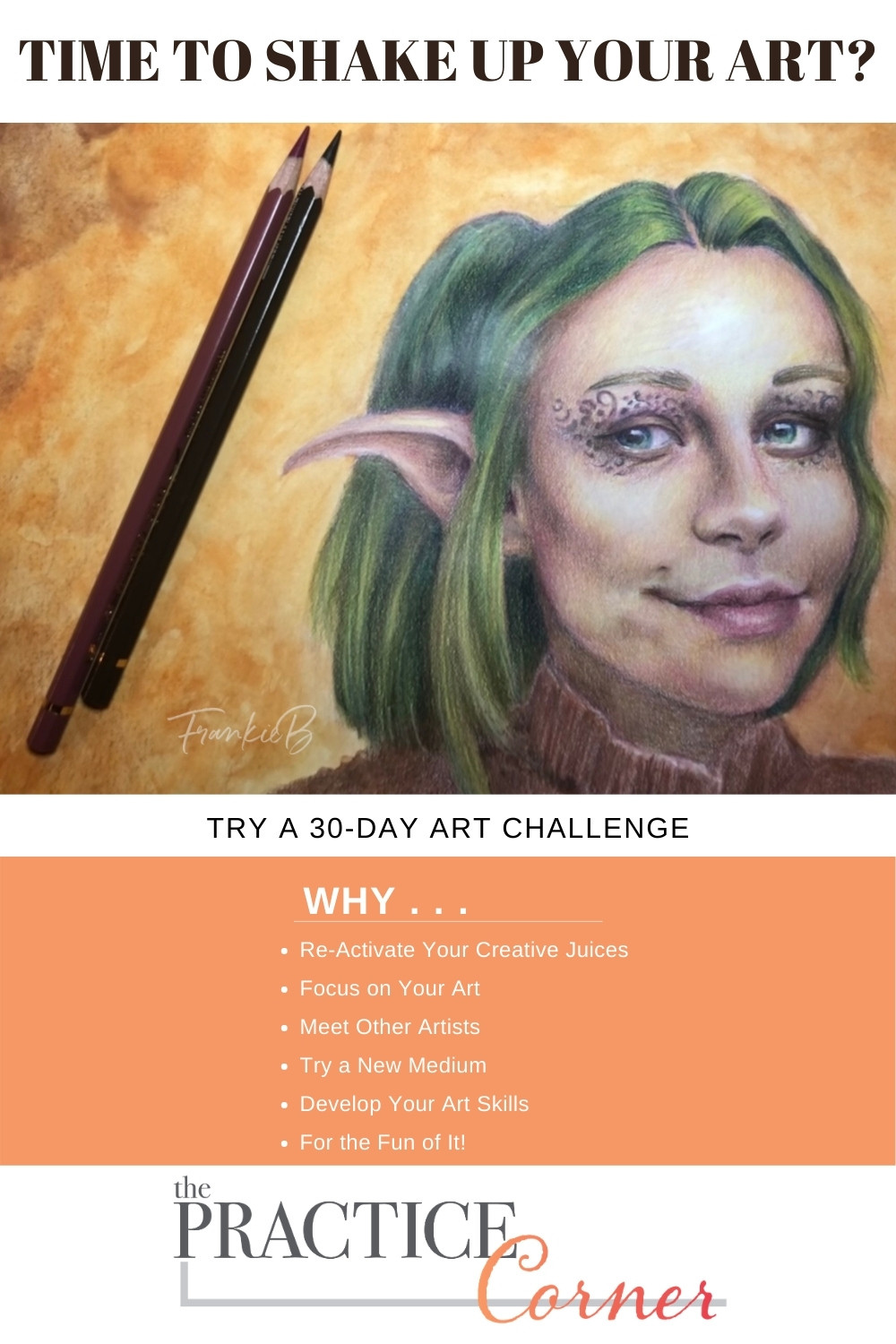 Need to shake up your coloring skills?  Try a 30-Day Art Challenge | The Practice Corner | #realisticcoloring #coloringtechniques #coloredpencilpractice