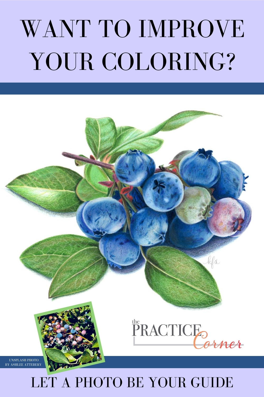 Measure your coloring progress | Improve your coloring with practice | The Practice Corner | #coloredpencilpractice #copicmarkerpractice