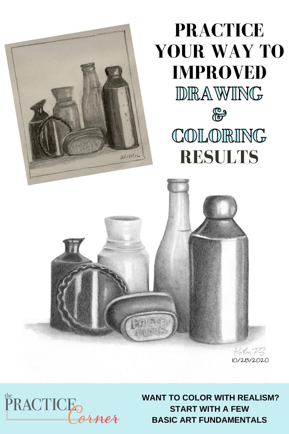 Learn some basic art fundamentals to improve your coloring. | The Practice Corner | #coloredpencilpractice #copicmarkerpractice
