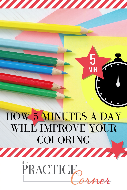 Practice a specific technique daily to improve your coloring | #coloredpencil #coloredpencilpractice #thepracticecorner #realisticcoloring #copicmarker #copicmarkerpractice