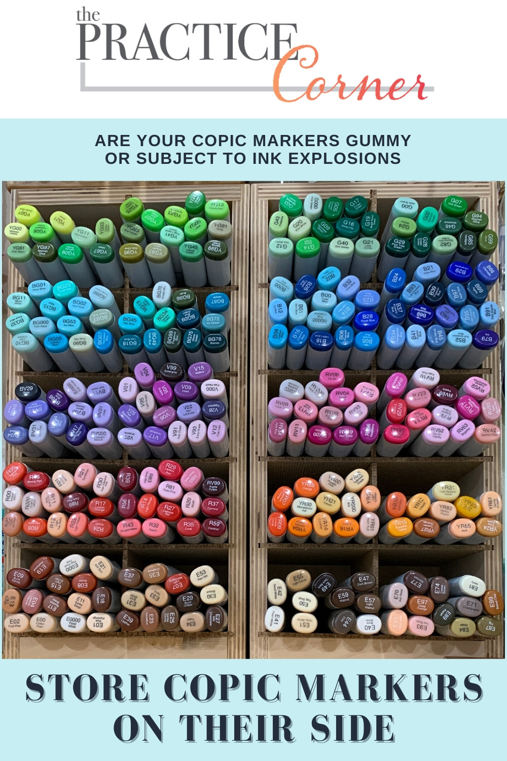 Copic marker maintenance will extend the life of your markers | Clean your Copic markers | #copicmarkermaintenance #thepracticecorner #coloringtips #copicmarker
