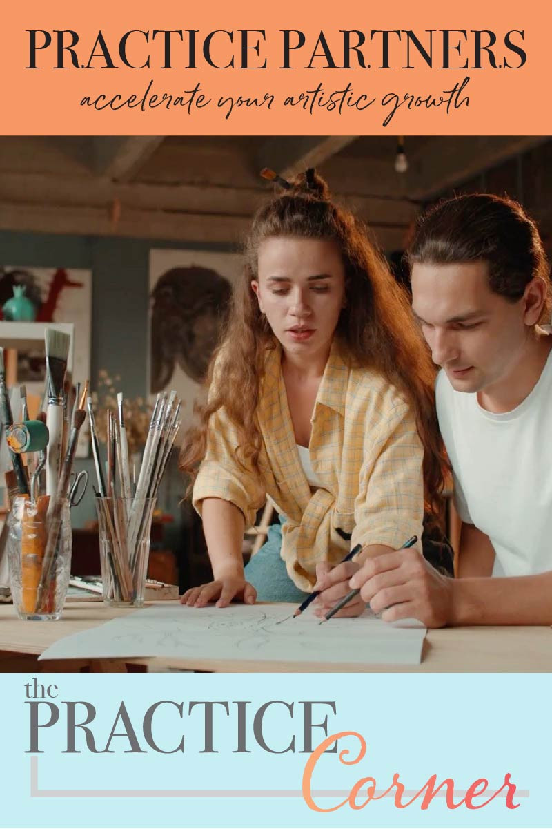 Coloring practice partners will accelerate your artistic growth.  Colored pencil, Copic marker and watercolor practice routines.