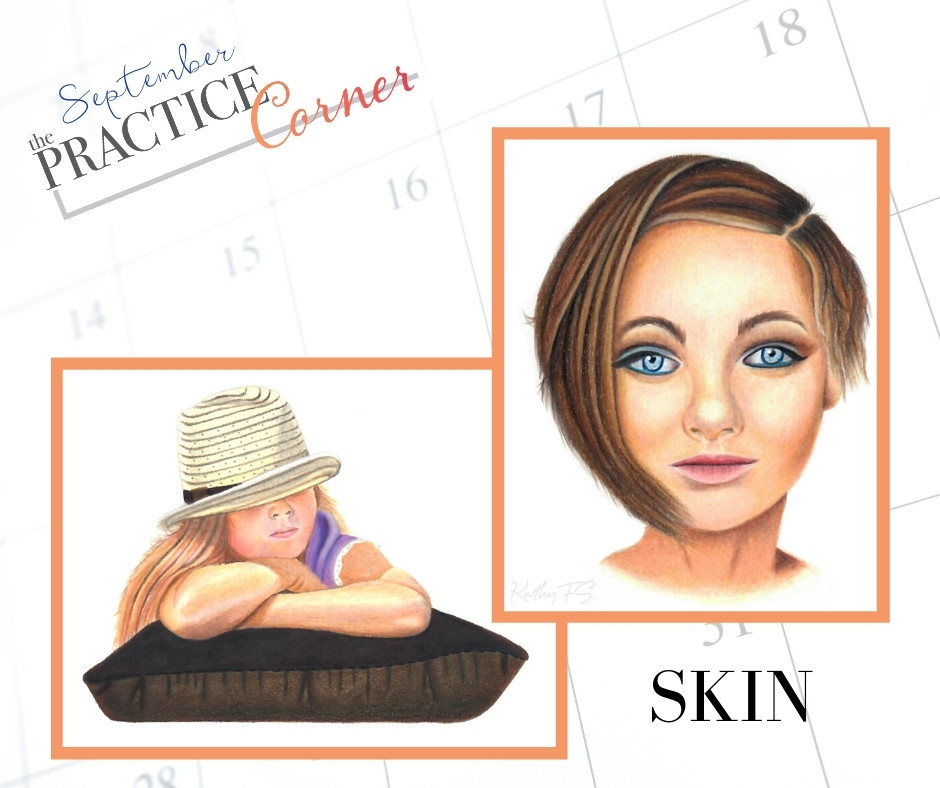 Focus on coloring skin with Copic markers and colored pencils. | The Practice Corner | #coloredpencilpractice  #realisticcoloring #coloringtechniques #copicmarkerpractice