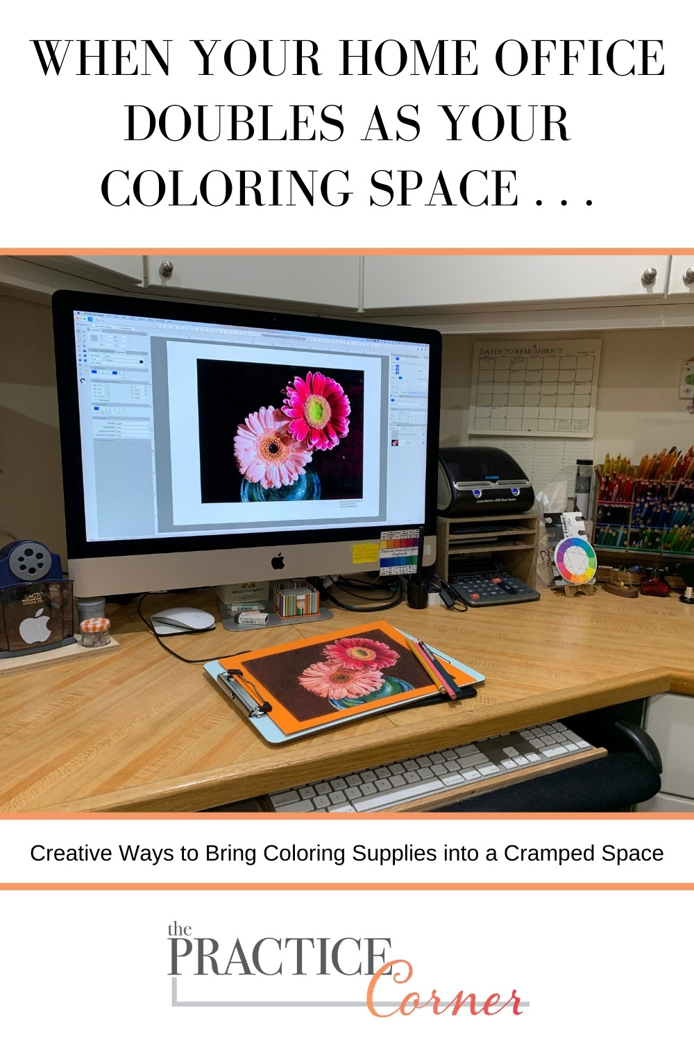 Creative ways to bring coloring supplies into a cramped space. | The Practice Corner | How to improve your coloring | #organizeartsupplies