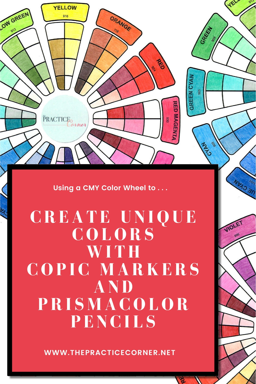 With practice you can develop the skill of creating deeper richer colors from your Copic markers and/or colored pencils. | How to improve your coloring | #coloredpencil #coloredpencilpractice #copicmarker #copicmarkerpractice  #copiccoloring #coloredpencilcoloring #thepracticecorner #coloringtechniques