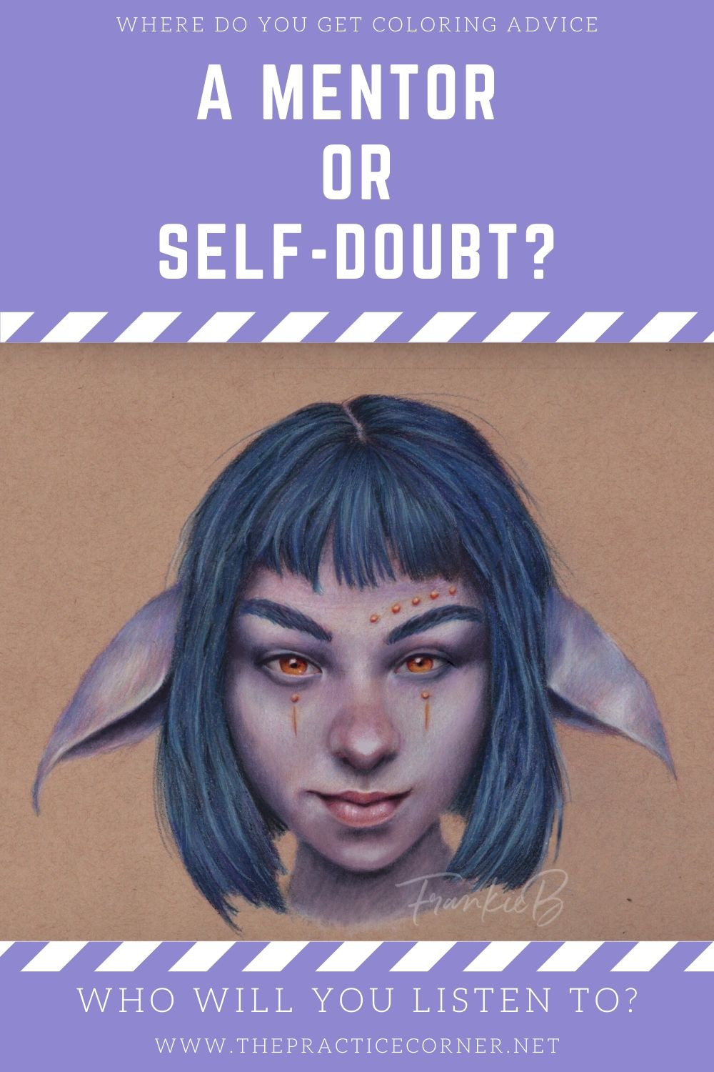 Listen to your mentor for valid coloring advice, ignore your inner voice when it's full of self doubt.  How to improve your coloring | What to practice to improve my coloring #coloredpencil #coloredpencilpractice #copicmarker #copicmarkerpractice