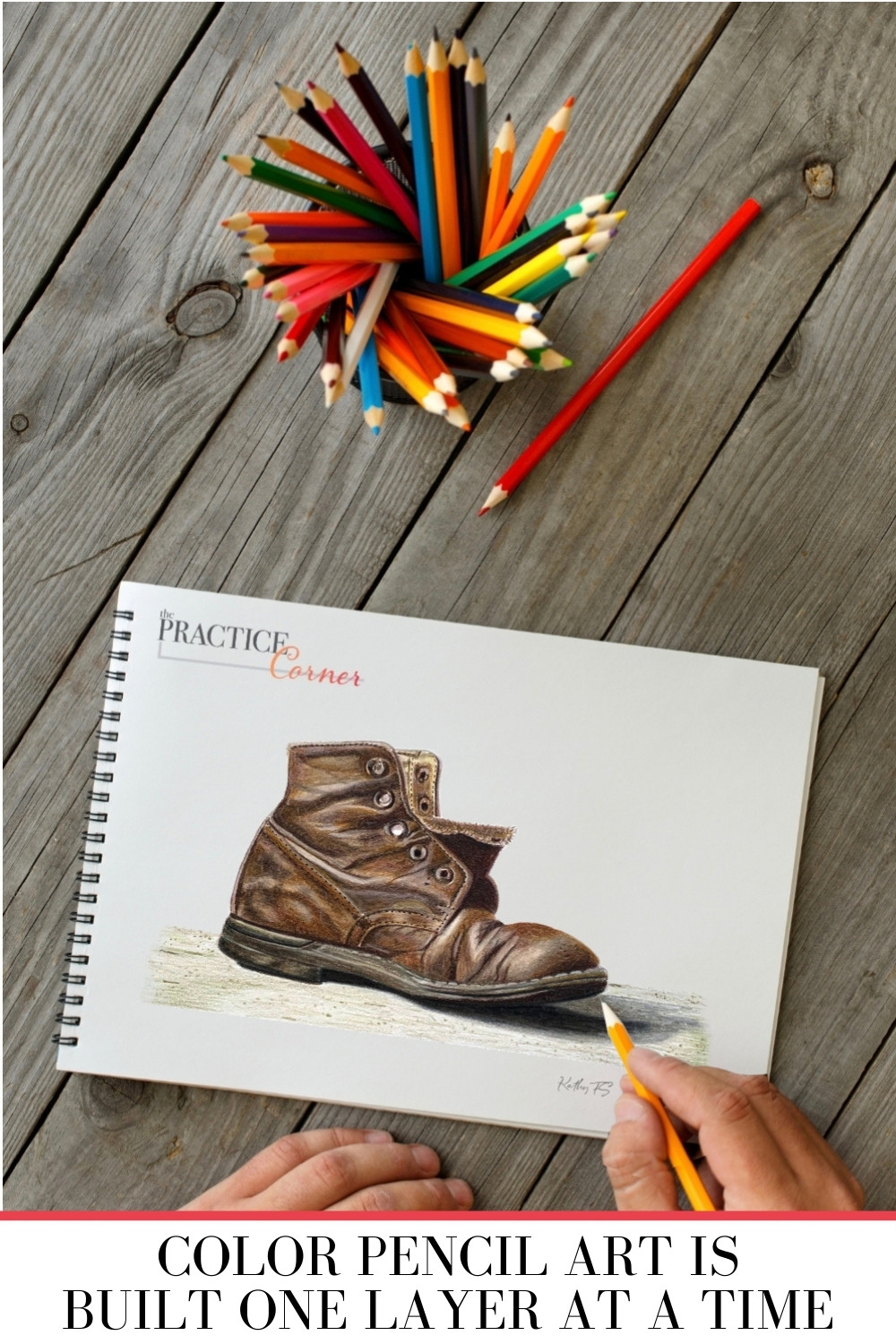Colored Pencil Art is Built One Layer at a Time. | The Practice Corner | #coloredpencilpractice #layeringcoloredpencil