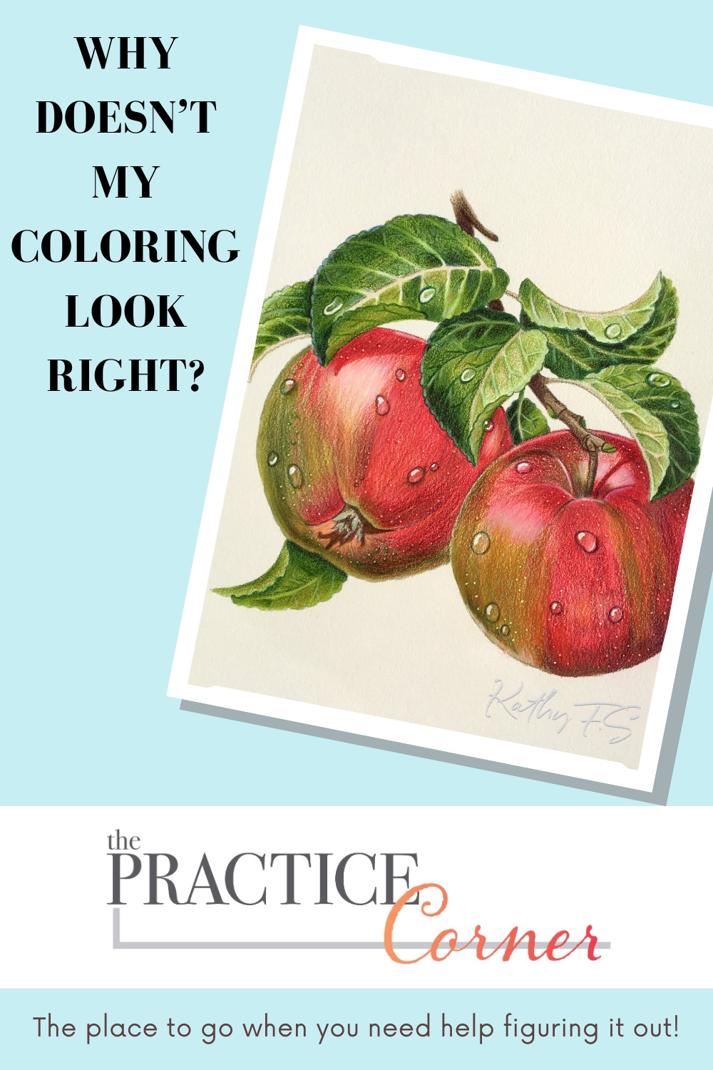 Focused technique practice with improve your coloring | #thepracticecorner #coloringtips
