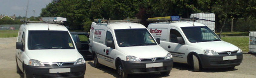 Kirk & Crane Electrical Vans. Delivering our elctrcians to get your project on track.