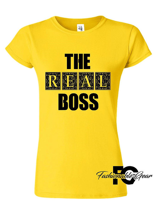 THE REAL BOSS (Couples Tee)