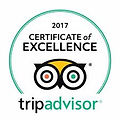 Tripadivisor Excellence Award 2017 Hollywood Cottages