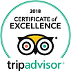 Tripadivisor Excellence Award 2018 Hollywood Cottages