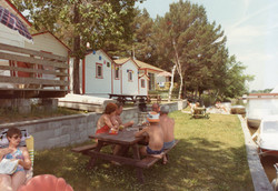 Customers enjoying the River and PicNic Area at Hollywood Cottages