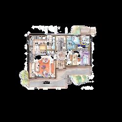 44평형 2층 4실 [1층]