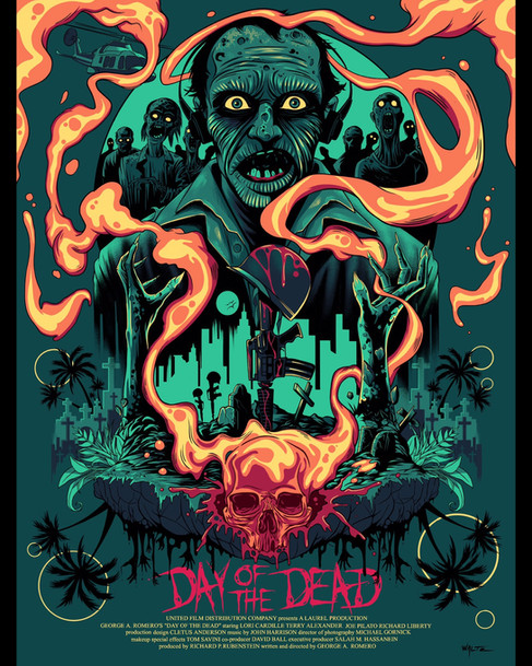 Day of The Dead Silkscreen Movie Poster