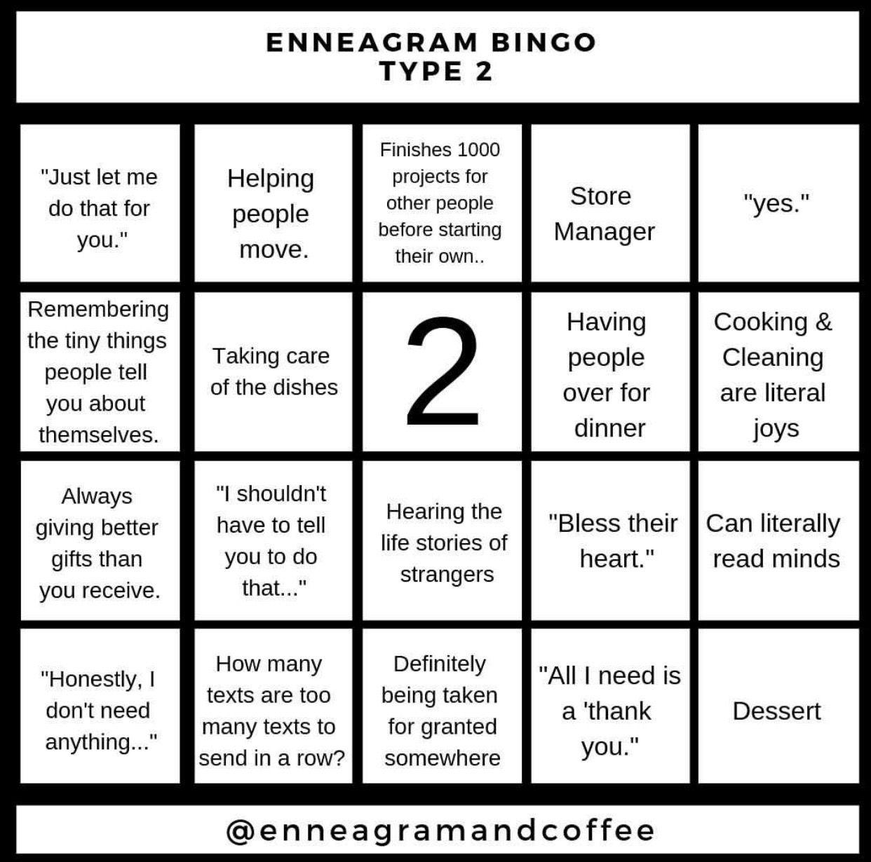 Enneagram Bingo