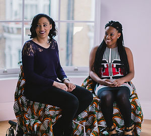 Two actresses in an Afro Archives interview