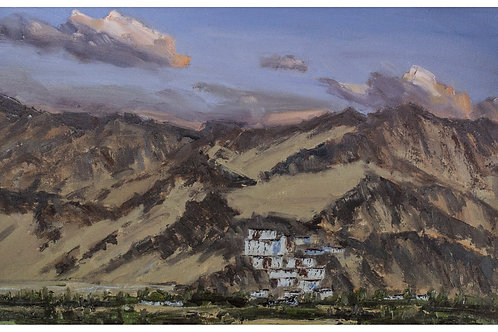 Thiksey Monastery and the Mountains Beyond, Ladakh
