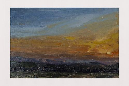 Sunset at Bir Billing, Kangra